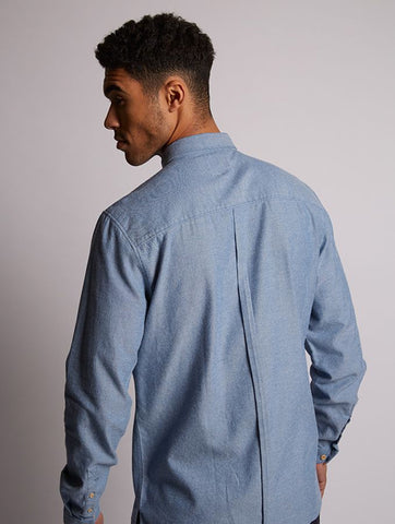 Piranha Brushed Twill Shirt Blue