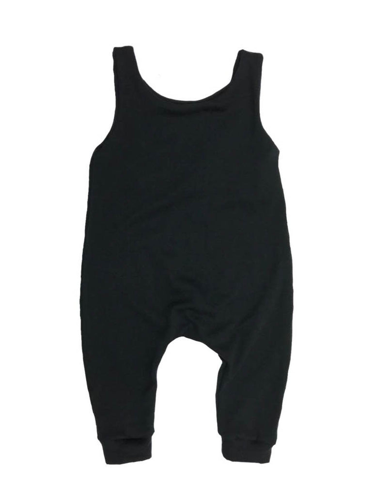 Plain Black Romper
