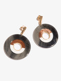 Nude Resin Circle Earrnigs