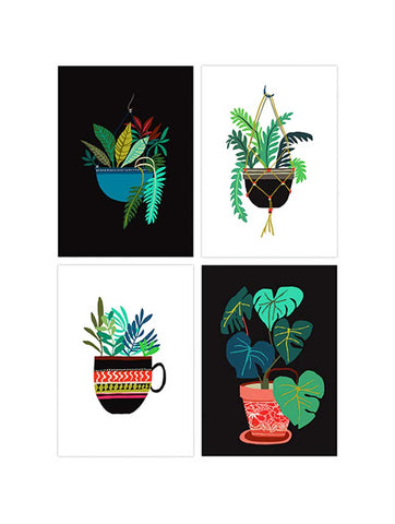 Pot Plant Postcard Set