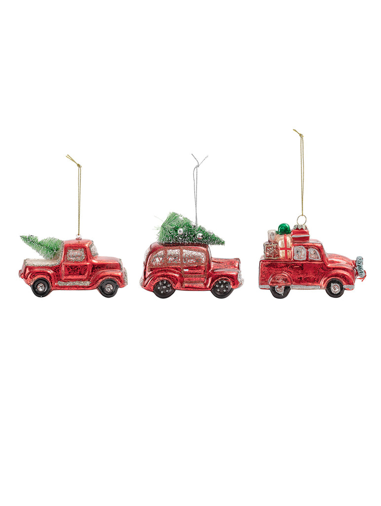 Glass Ornament Red 3 Assortments