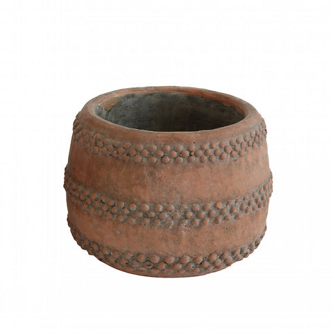 Deco Flower Pot Red Concrete