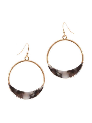 Hoop Black Earrings