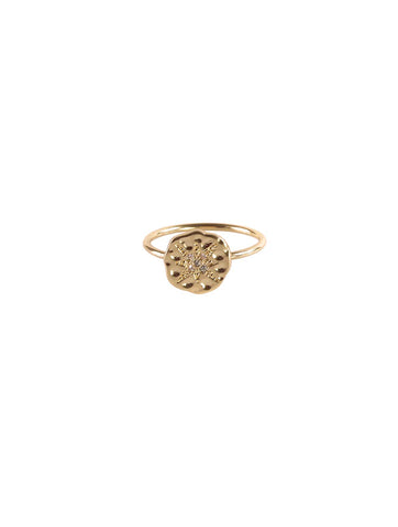 Linette Star Charm Ring Gold