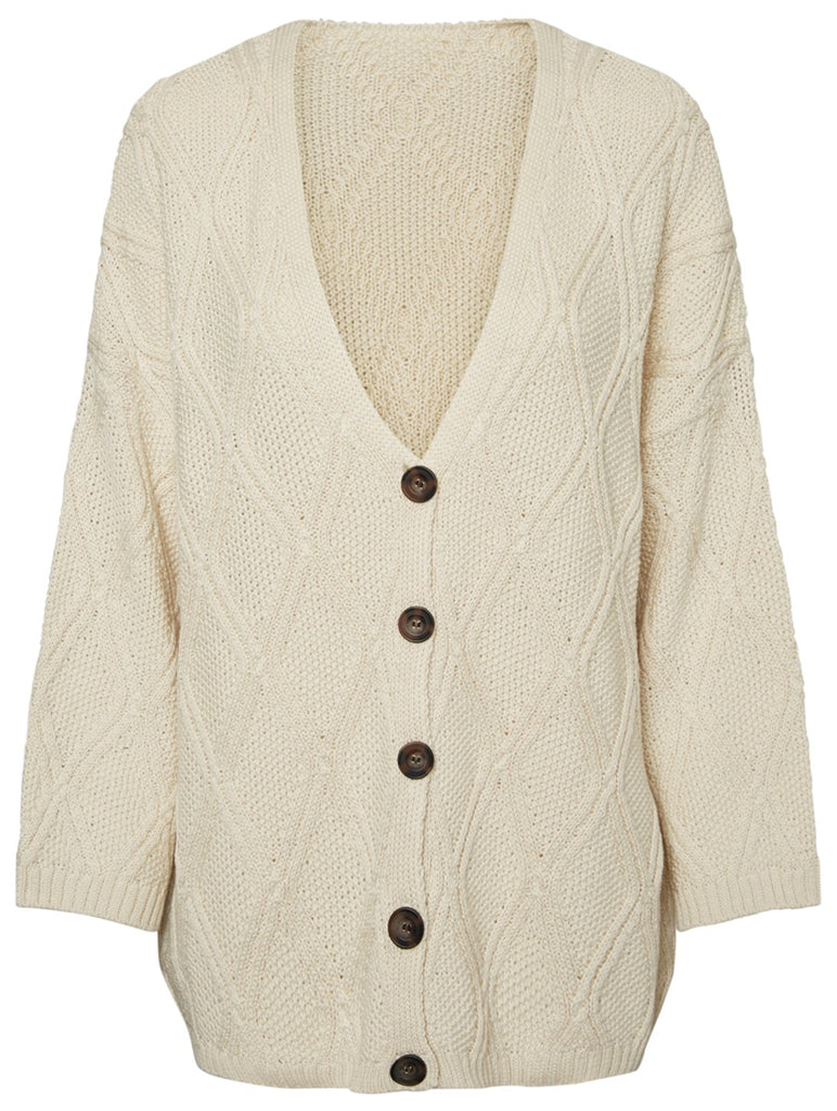 Riva Knit Cardigan Star White
