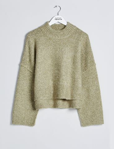 Riverine Crew Neck Olive Jumper