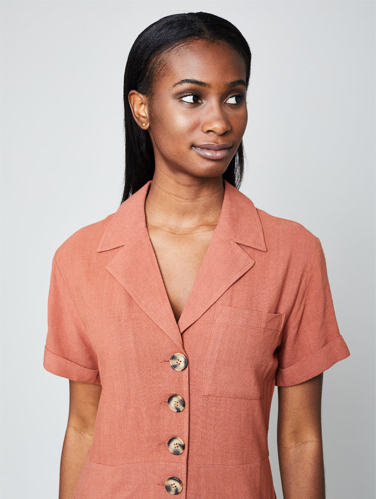 Knowles Romper Terracota