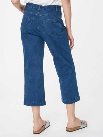 Rosa Organic Cotton Culottes Denim Blue
