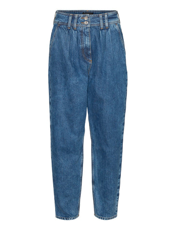 Sana Tapered Carrot Jeans Medium Blue 34 Length