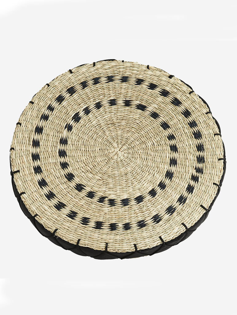 Seagrass Sitting Pad Natural/Black
