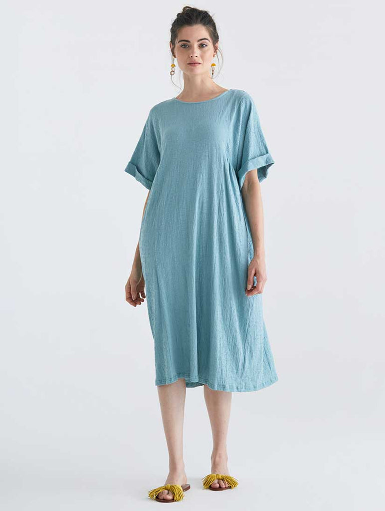 Selsey Relaxed Fit Dress Teal