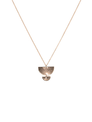 Morel Long Graduated Semicircle Necklace Gold