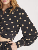 Sepia Dot Blouse