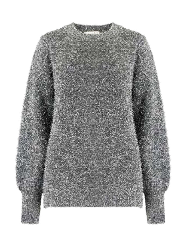 Seren Tinsel Knit Sweater Black Silver