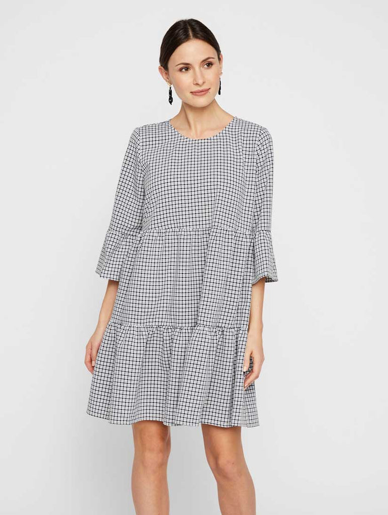 Sia 3/4 Check Dress Navy