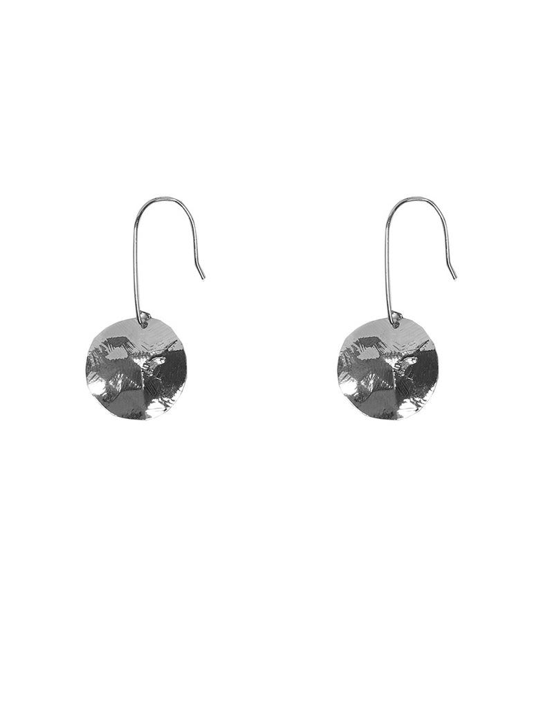 Silver Monserrat Disc Earrings