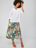 Leolani Floral Midi Skirt With Pockets