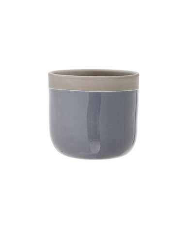 Small Terracotta Flowerpot Grey
