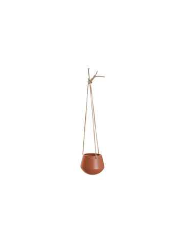 Small Hanging Skittle Plant Pot Clay Brown
