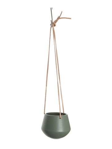 Hanging Pot Small Matt Green