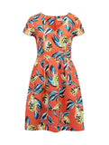 Sophie Tropical Punch Dress Orange Multi