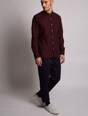 Shark Spacedye Brush Shirt Burgundy