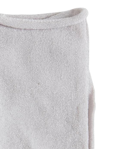 Mai Light Grey Melange Glitter Socks