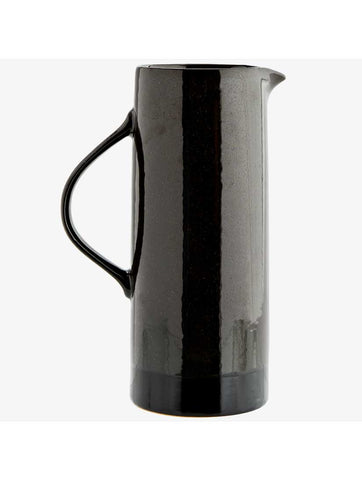 Stoneware Tall Jug Black