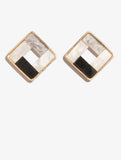 Grey Square Stud Earings