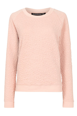 Betty Floral Embossed Sweater