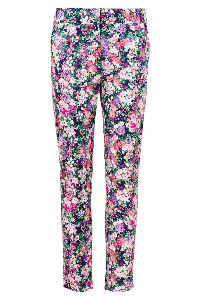 Trousers with allover floral print.