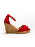 Susan Wedge Espadrille Red