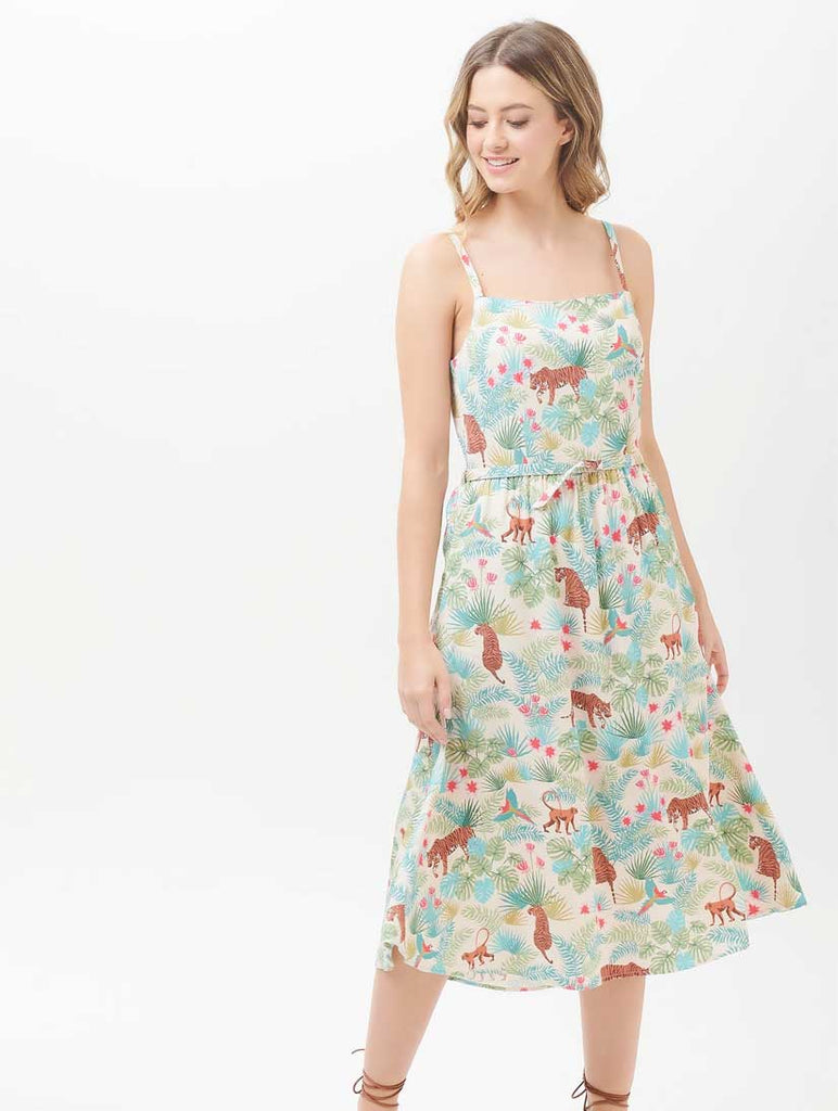 Tallulah Daybreak Jungle Sundress Stone