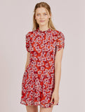 Tatianna Red Orchard Print Dress.