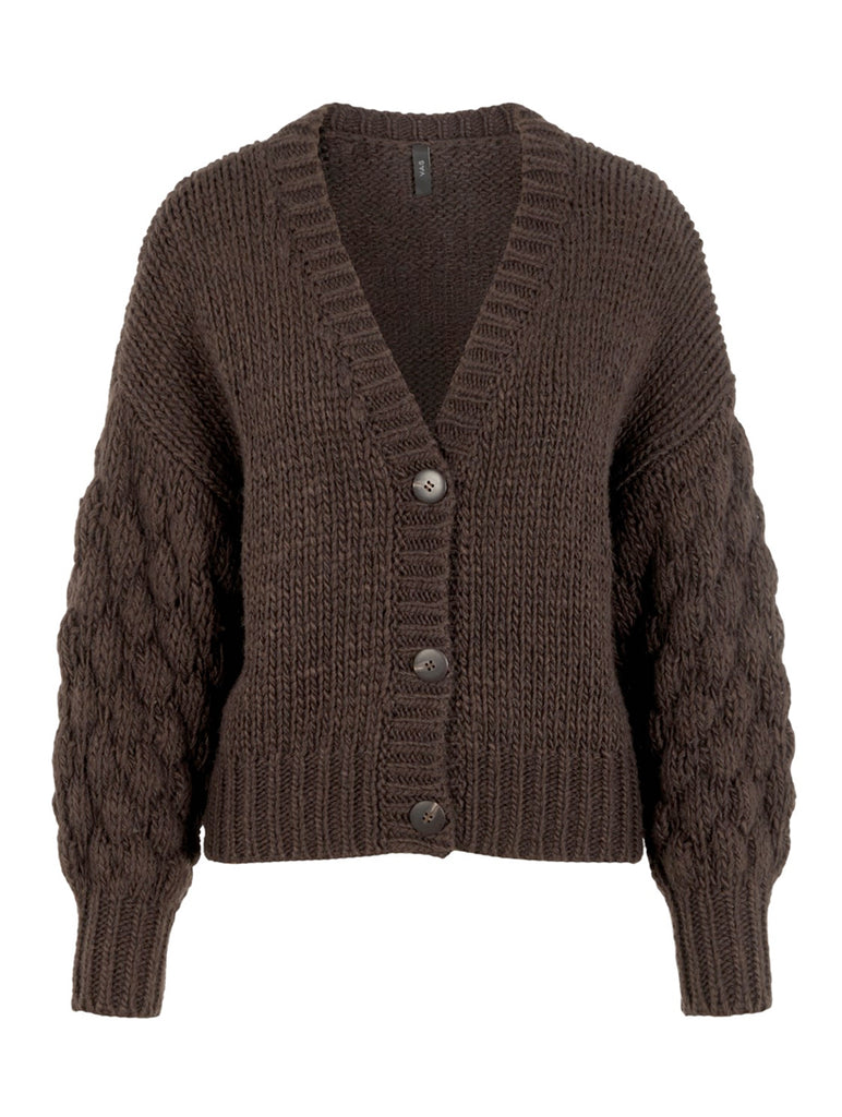 Theresa Hand Knit Cardigan Mole