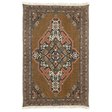 Printed Cotton/Jute Rug Stonewashed Large