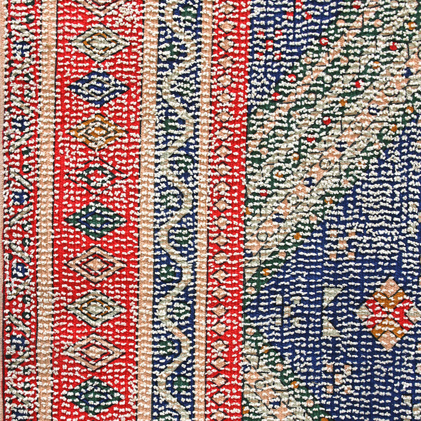 Printed Rug Red/Blue Overtufted