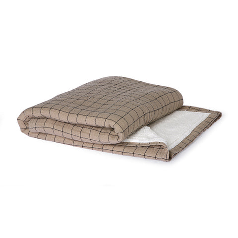 Checkered Sherpa Throw