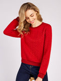 Jan Twist Sweater Red