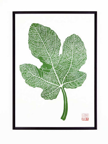Ulrike Lino Print 'Fig Leaf'