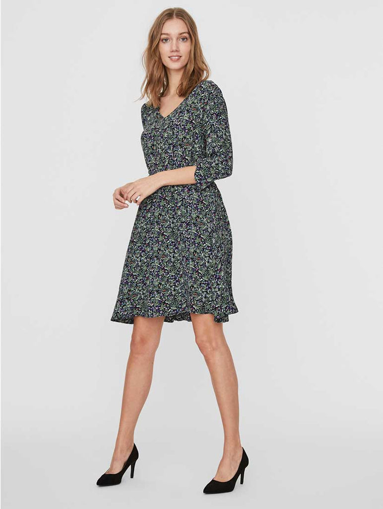 Vilma Dress Flower Print Black