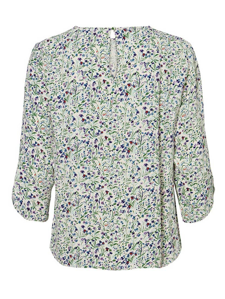 Vilma Flower Print Top Birch