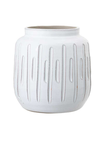 Deco Vase White Terracotta
