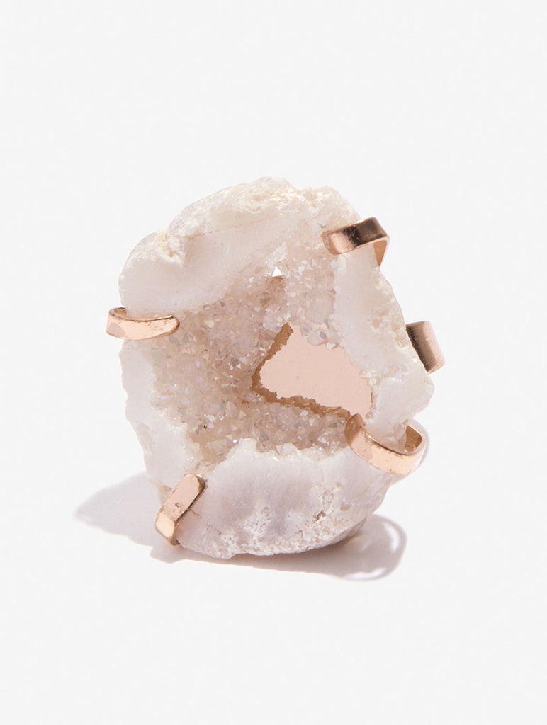 White Natural Stone Ring