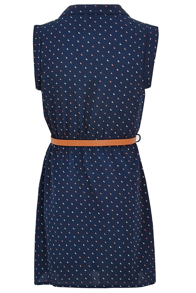 Zina Moon Dress Navy