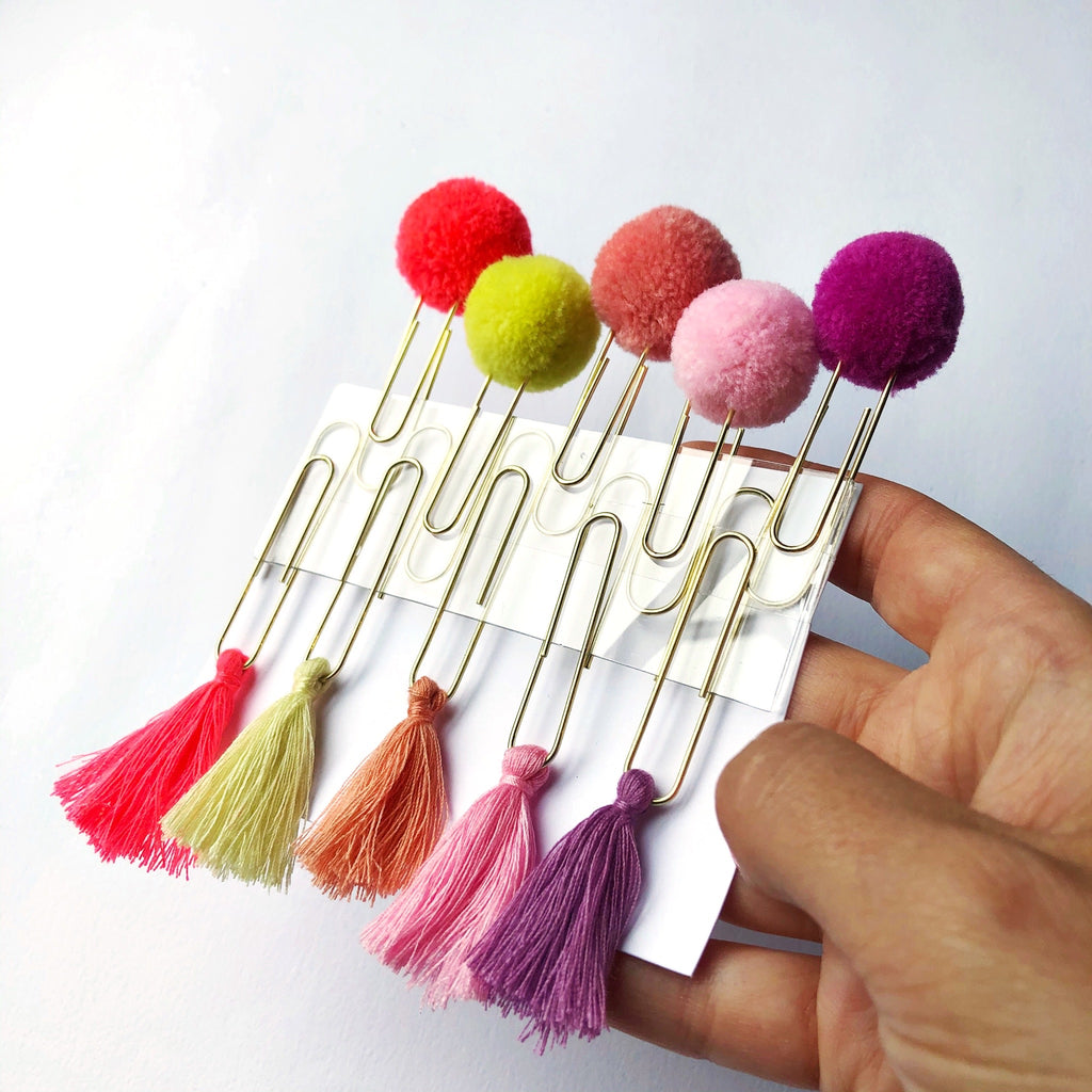 PomPom and Tassel Paperclips