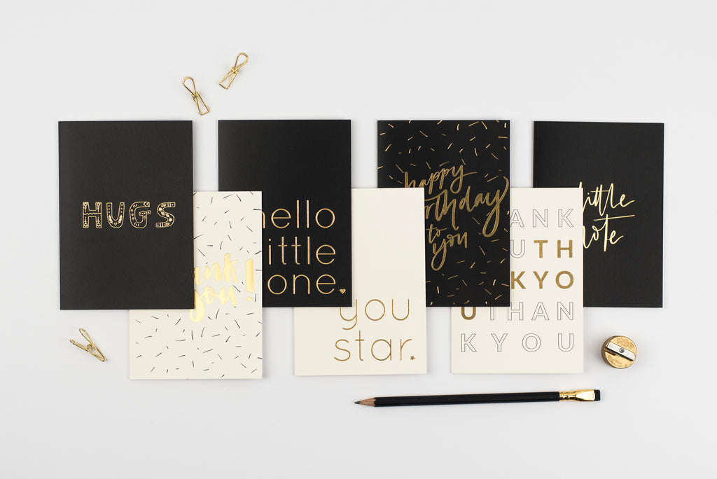 pretty post - a selection of hot foiled luxury cards