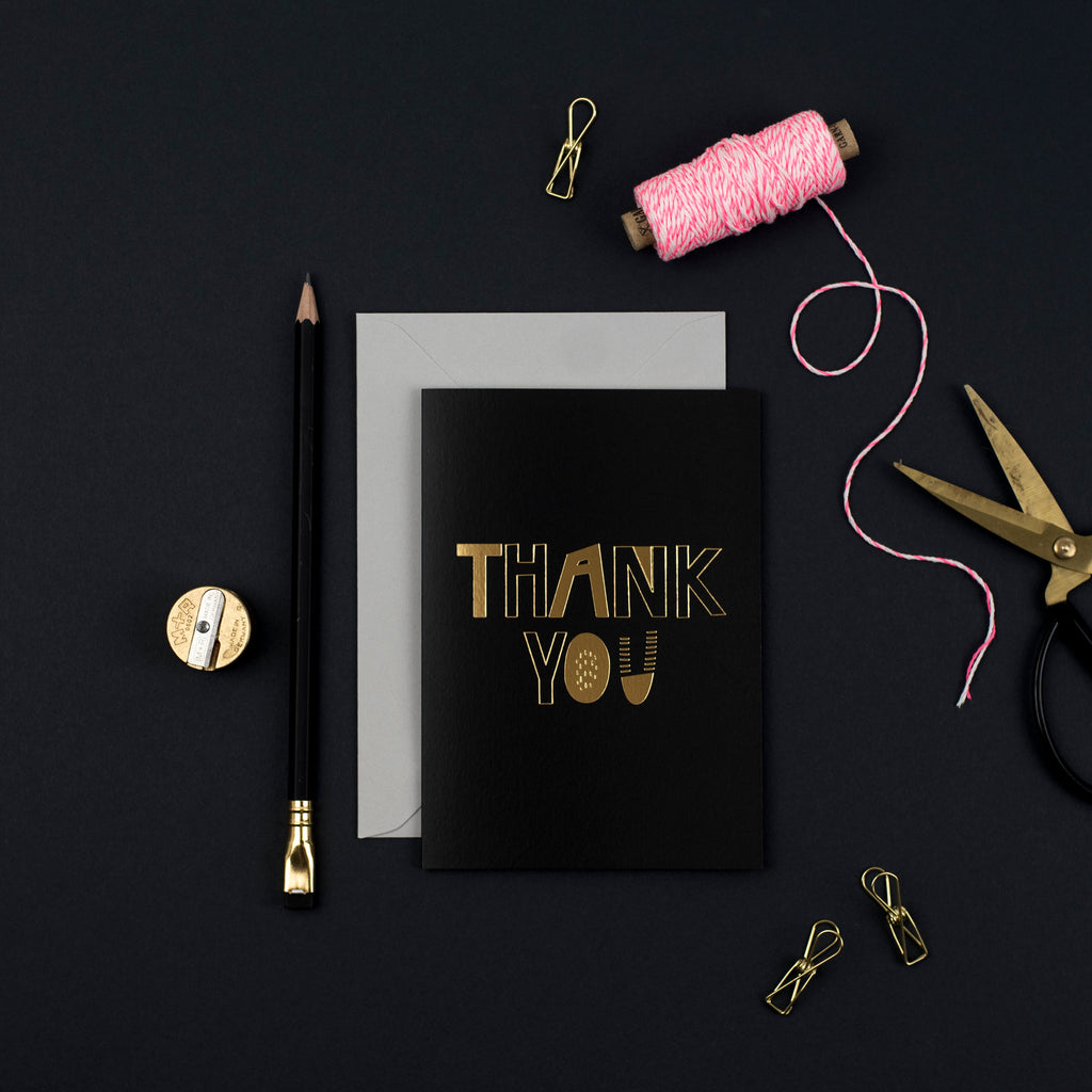 pretty post - luxury thank you card