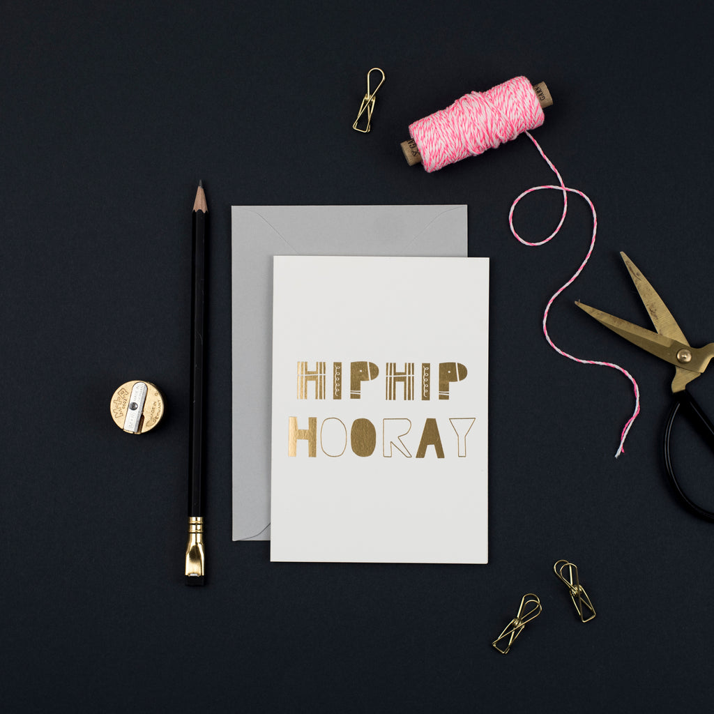 pretty post - hip hip hooray luxury card