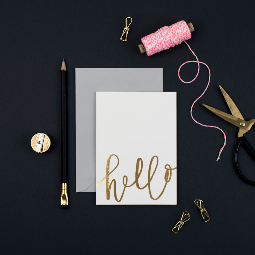 pretty post all occasion card pack - hello